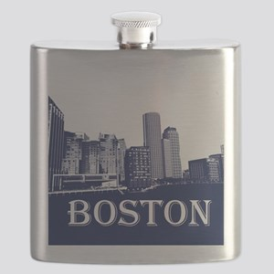 Boston From Fort Point Channel Flask