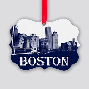 Boston From Fort Point Channel Picture Ornament