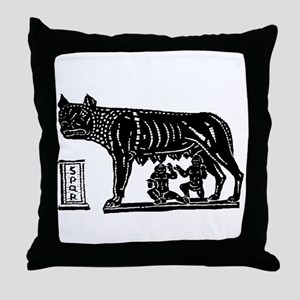 Romulus and Remus Throw Pillow