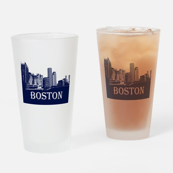 Boston From Fort Point Channel Drinking Glass