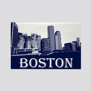 Boston From Fort Point Channel Magnets