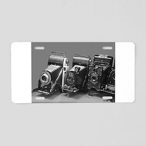 Vintage cameras photography Aluminum License Plate