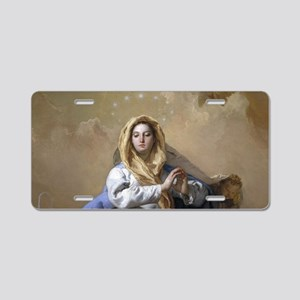 Immaculate Conception Aluminum License Plate