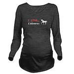 I Love Unicorns Long Sleeve Maternity T-Shirt