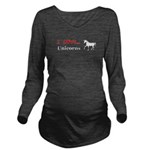 I Love Unicorns Long Sleeve Maternity T-Shirt