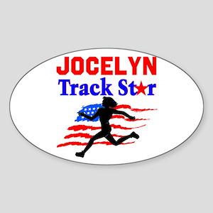I LOVE RUNNING Sticker (Oval)