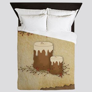 Primitive Candles Queen Duvet