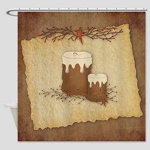 Primitive Candles Shower Curtain