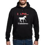 I Love Unicorns Hoodie (dark)
