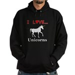 I Love Unicorns Hoodie (dark)