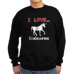 I Love Unicorns Sweatshirt (dark)