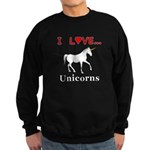 I Love Unicorns Sweatshirt (dark)