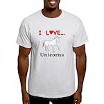 I Love Unicorns Light T-Shirt
