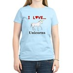 I Love Unicorns Women's Light T-Shirt