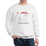 I Love Unicorns Sweatshirt
