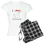 I Love Unicorns Women's Light Pajamas