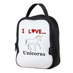 I Love Unicorns Neoprene Lunch Bag