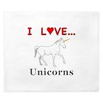 I Love Unicorns King Duvet