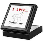 I Love Unicorns Keepsake Box