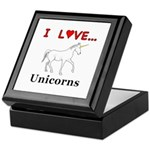 I Love Unicorns Keepsake Box