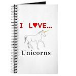 I Love Unicorns Journal