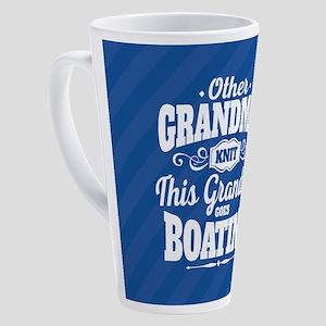 Boating Grandma 17 oz Latte Mug