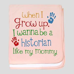 Historian Like Mommy baby blanket