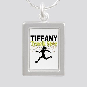 I LOVE RUNNING Silver Portrait Necklace