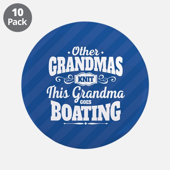 "Boating Grandma 3.5"" Button (10 pack)"