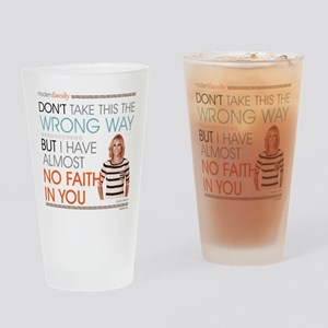 Modern Family Claire No Faith Drinking Glass