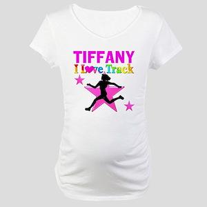I LOVE RUNNING Maternity T-Shirt
