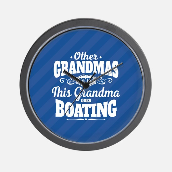 Boating Grandma Wall Clock
