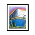 Dawn In The Mountains Framed Panel Print