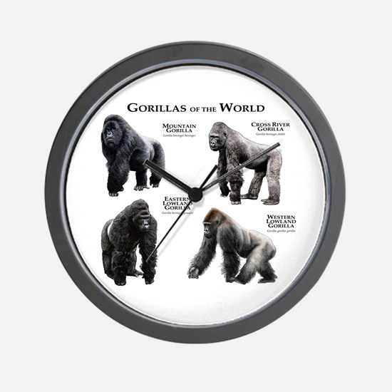 Gorillas of the World Wall Clock