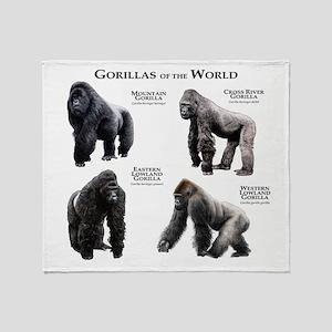 Gorillas of the World Throw Blanket