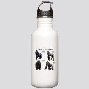 Gorillas of the World Stainless Water Bottle 1.0L
