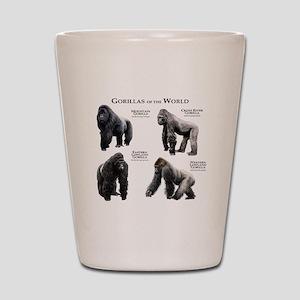 Gorillas of the World Shot Glass