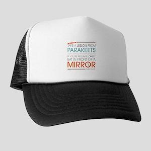 Modern Family Philsosophy Parakeets Trucker Hat