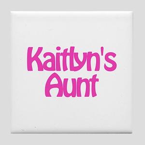 Kaitlyn's Aunt Tile Coaster
