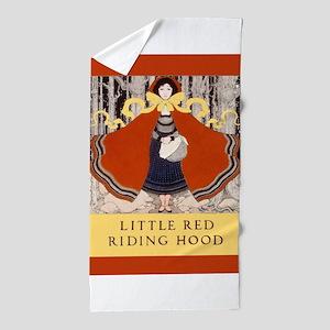 Maxfield Parrish Red Riding Hood Beach Towel