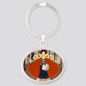 Maxfield Parrish Red Riding Hood Keychains
