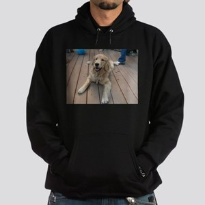 golden retriever puppy Hoodie (dark)