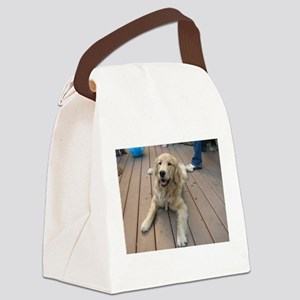 golden retriever puppy Canvas Lunch Bag