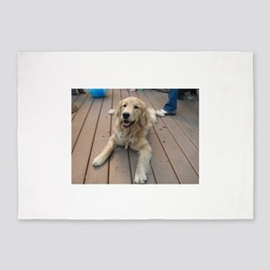 golden retriever puppy 5'x7'Area Rug
