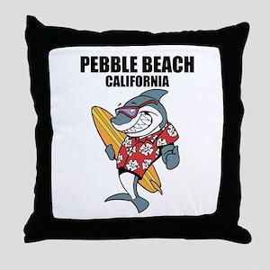 Pebble Beach, California Throw Pillow