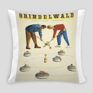 Vintage poster - Grindelwald Everyday Pillow