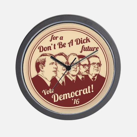 Don't Be A Dick Wall Clock