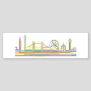 London Skyline Sticker (Bumper)
