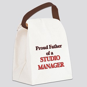 Proud Father of a Studio Manager Canvas Lunch Bag