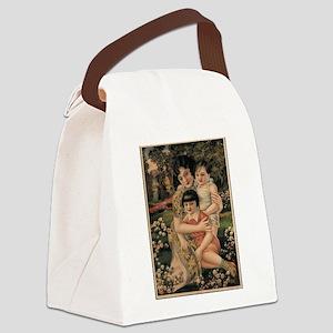 Vintage poster - Happy Children Canvas Lunch Bag